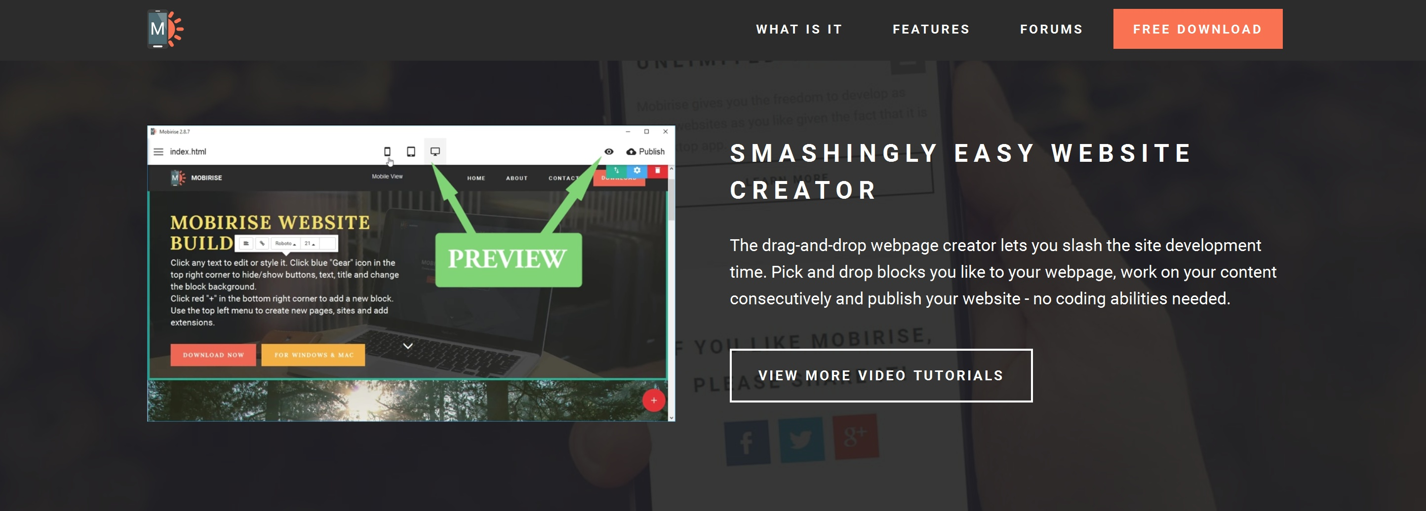 Drag and Drop Simple Website Builder Tool