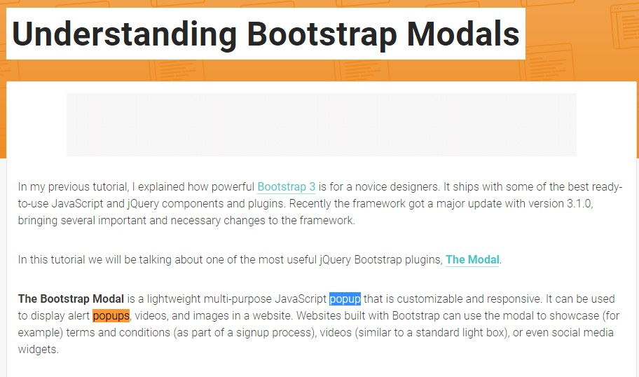 Yet another  handy  information  concerning Bootstrap Modal Popup