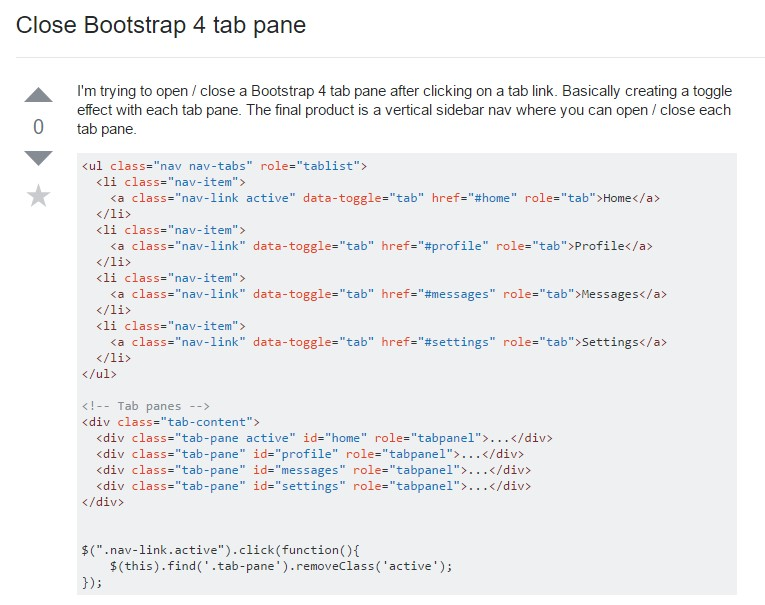 How to  turn off Bootstrap 4 tab pane