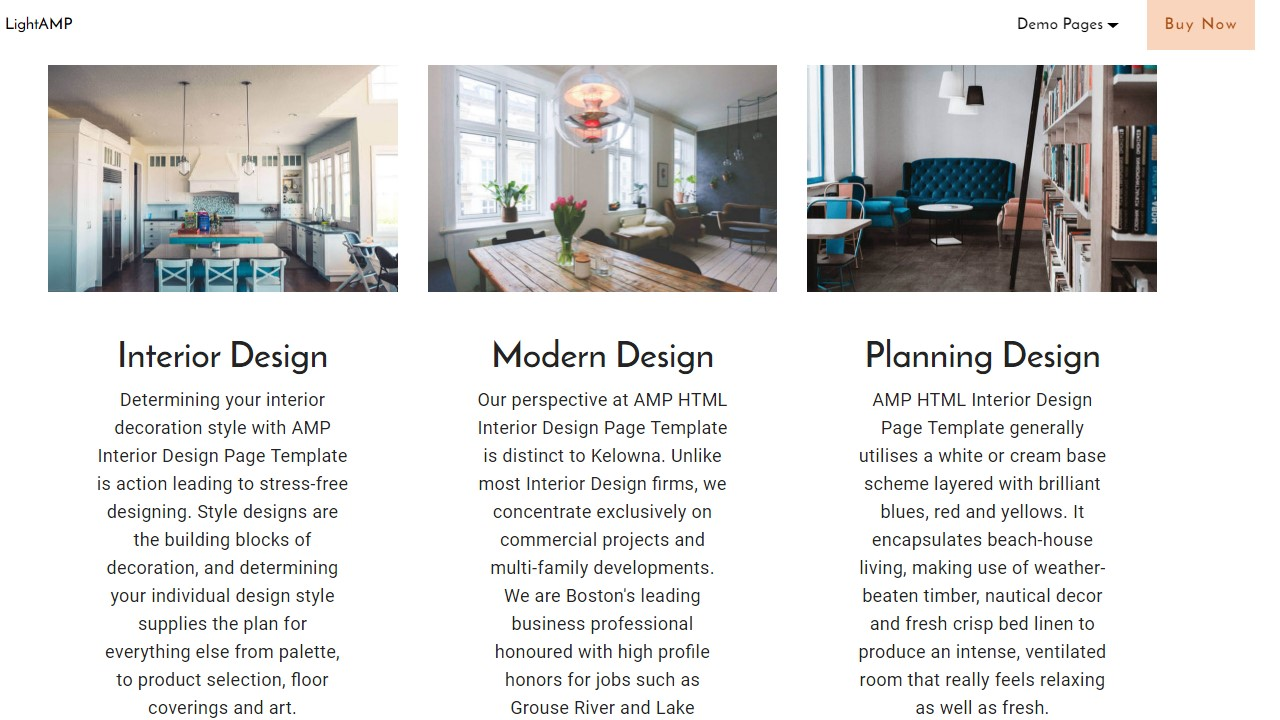 Interior Design Page Template