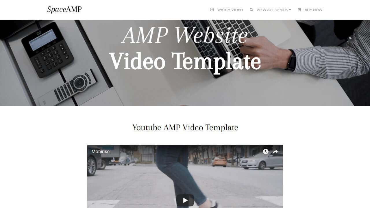 AMP Website Video Template